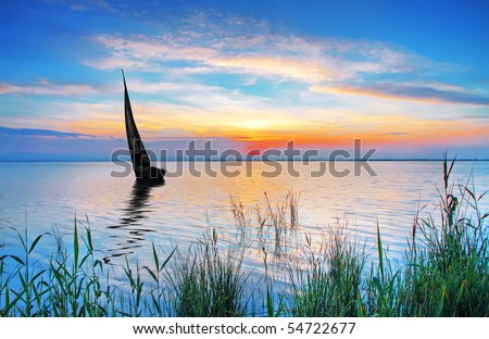 Lake Colors - stock photo