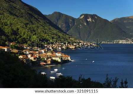 Lake Como in Italy, Europe - stock photo