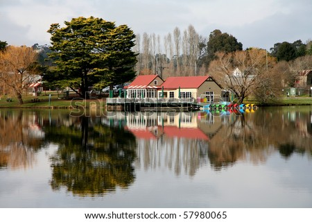 lake daylesford, victoria, australia - stock photo