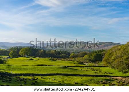 Lake District Cumbria England - stock photo