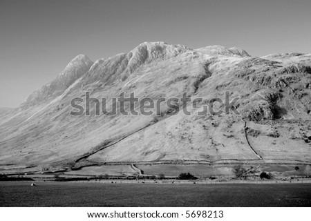lake district national park cumbria england uk - stock photo