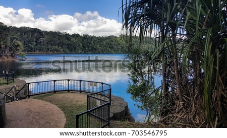Lake Eacham  is a popular lake of volcanic origin on the Atherton Tableland of Queensland, Australia