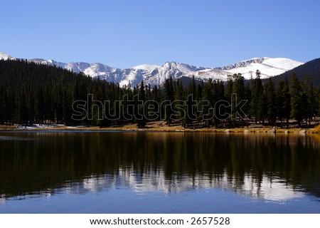 Lake Echo, Mt. Evans - stock photo