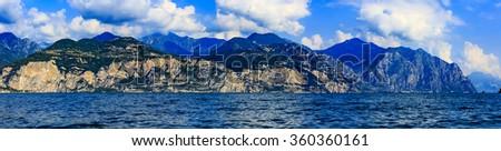 Lake Garda (Lago di Garda) Italy, panorama - stock photo