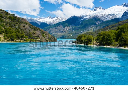 Lake General Carrera (Chile) - stock photo
