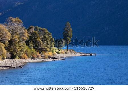 Lake Guttieres, Bariloche, Argentina - stock photo
