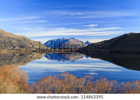 Lake Hayes in New Zealand - stock photo