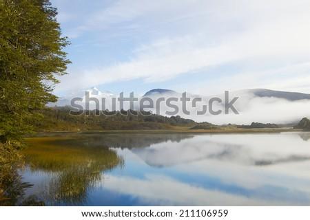 Lake Hess - Patagonia - Argentina - stock photo