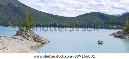 Lake in Banff National Park, Alberta, Canada - stock photo