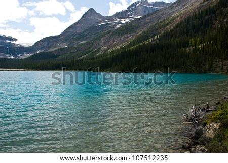 Lake in Banff National Park, Canadian Rockies - stock photo