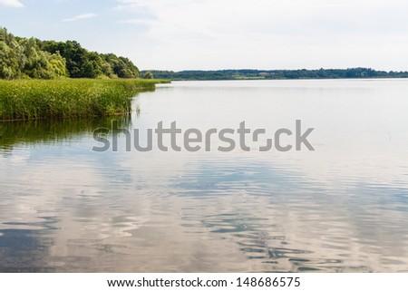 lake in Brandenburg, Germany - stock photo