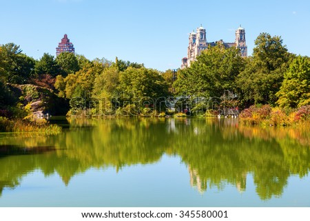 lake in Central Park, New York City