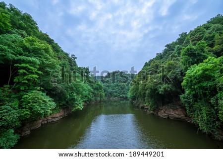 lake in Chengdu, China - stock photo