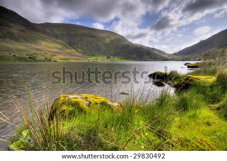 Lake in countryside - stock photo