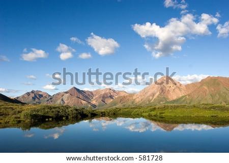 Lake in Denali - stock photo