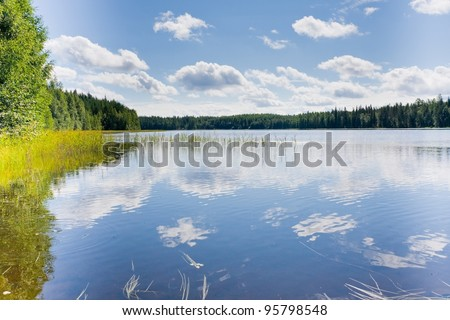 Lake in Finland - stock photo