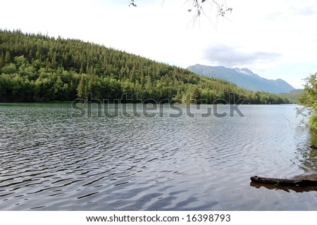 lake in Mountain - stock photo