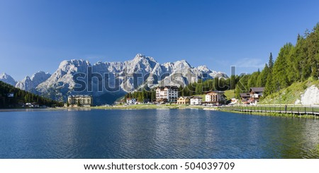 lake in mountain Misurina