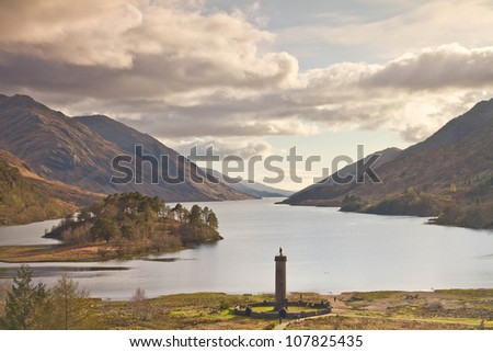 lake in scotland - stock photo