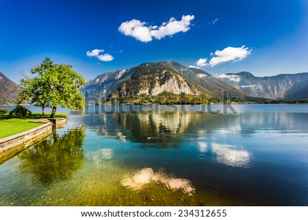Lake in the Alps, Hallstatt