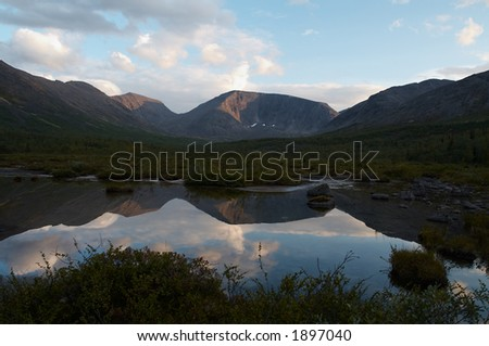Lake in the Khibiny Mountains, Kola Peninsula, Russia