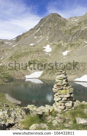 lake in the Mercantour National Park, France - stock photo