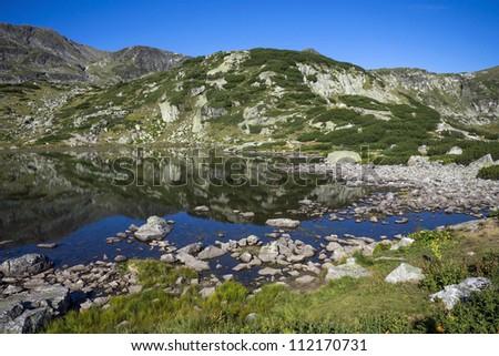 Lake in the Rila mountain - stock photo