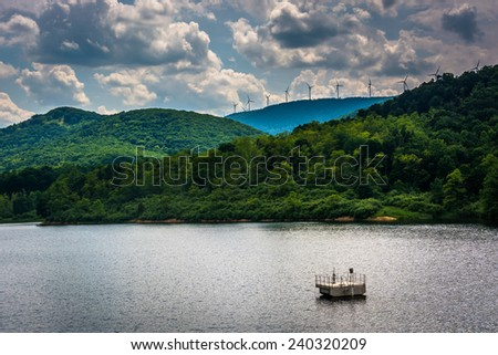 Lake in the rural Potomac Highlands of West Virginia. - stock photo