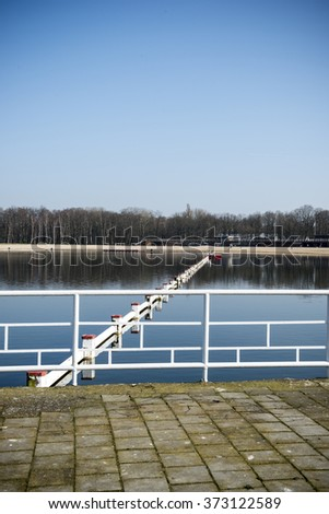 Lake in winter - stock photo