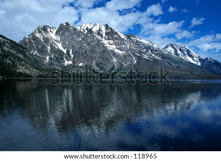Lake Jenny - Grand Teton National Park - stock photo