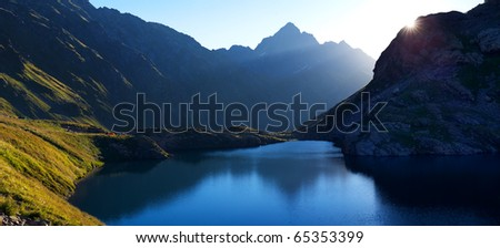 lake Kardivach. Sochi, the Caucasus - stock photo