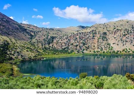 Lake Kournas in Crete/Greece - stock photo