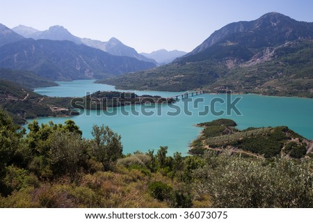 Lake Kremasta is the largest artificial lake in Greece