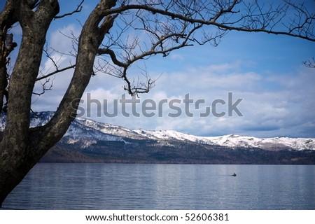 Lake Kussharoko, Hokkaido, Japan - stock photo