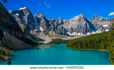 Lake loiuse, Canada - stock photo