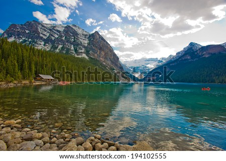 Lake Louis, Banff National Park, Alberta, Canada - stock photo