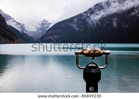 Lake Louise. Banff National park. Alberta. Canada, Oct. 2011 - stock photo