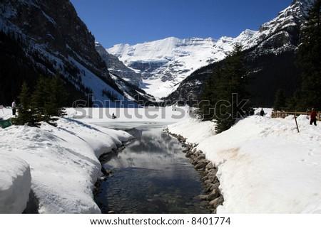 Lake Louise, Banff National Park, Canadian Rockies, Alberta, Canada - stock photo