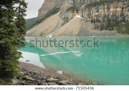Lake Louise - Canadian Rocky Mountains - stock photo
