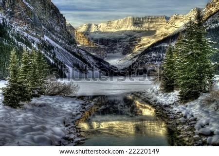 Lake Louise Winter Wonderland - stock photo