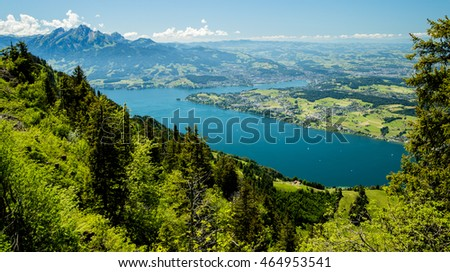 Lake Lucienne from Mt. Rigi