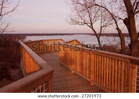 Lake Macatawa - stock photo