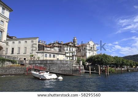 Lake Maggiore Isola Bella Italy - stock photo