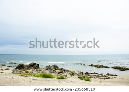 Lake Malawi on a Cloudy Day, Chintheche, Malawi - stock photo