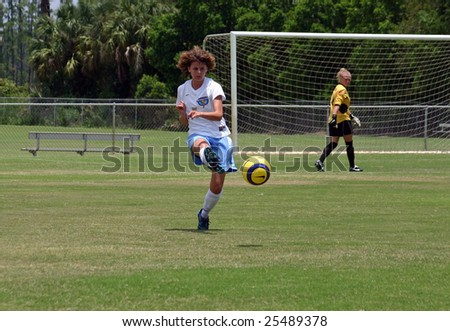 Lake Mary, Florida, - July 2007:  Katie Donnellan #5 of Central Florida Strikers during a woman's World Premier Soccer League Game in Lake Mary in July 2007.