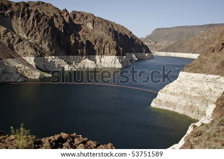 Lake Mead at Hoover Dam - stock photo