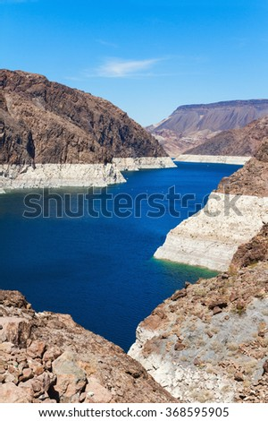 Lake mead from Hoover Dam near Boulder city, Arizona, USA
