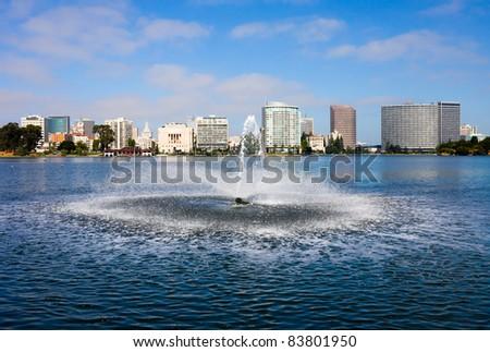 Lake Merritt in Oakland, California - stock photo