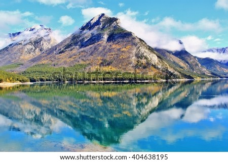 Lake Minnewanka , Banff , Alberta,Canada - stock photo