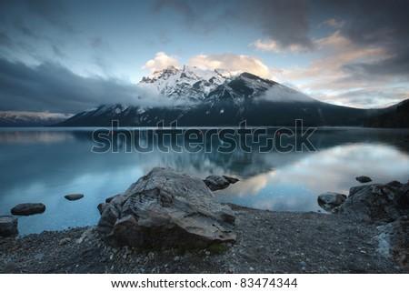 Lake Minnewanka, Banff National Park, Alberta, Canada - stock photo